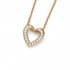 Pendant Love gold crystal