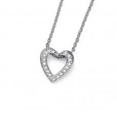 Pendant Love rhod. crystal