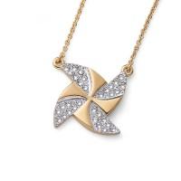 Pendant Turb gold crystal