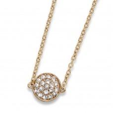 Pendant Pin gold crystal