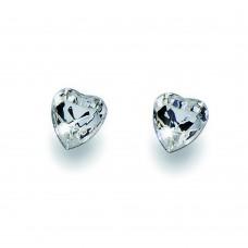 Post earring Herz crystal 001