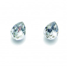 Post earring Drop crystal