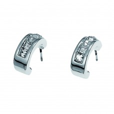 Post earring Inside rhod. crystal