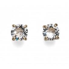 Post earring Brilli rosegold crystal