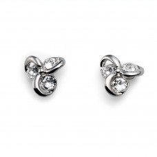Post earring Compo rhod. crystal