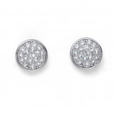 Post earring Pin rhod. crystal
