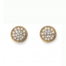 Post earring Pin gold crystal