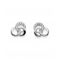 Post earring Linky rhod. crystal