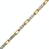 Bracelet Elements gold crystal