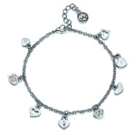 Bracelet Hearty rhod. crystal