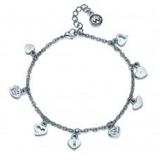Bracelet Hearty rhod. crystal