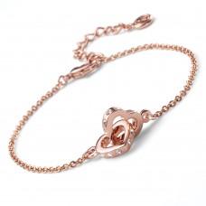 Bracelet Fond rosegold crystal