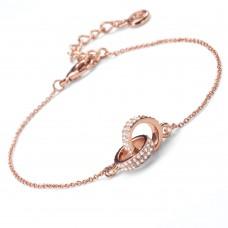 Bracelet Couple rosegold crystal