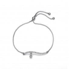 Bracelet Beta rhod. crystal