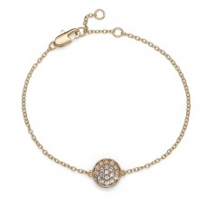 Bracelet Pin gold crystal