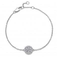 Bracelet Pin rhod. crystal