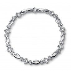 Bracelet Corner rhod. crystal